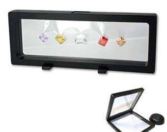 """3D suspension black display jewelry box,  9"""" x 3 1/2"""" x 3/4"""""""