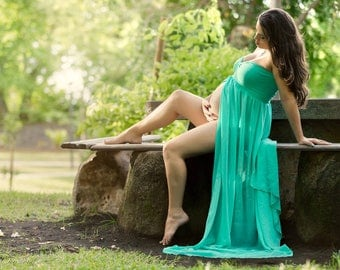 Maternity Dress for photo shoot {One size fits most } Maternity Gown / Photography Prop for maternity Pictures / Pregnancy Dress Photoshoot