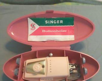 Vintage 1960 Singer Buttonholer with case