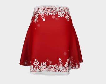 Snowflake Flare Skirt