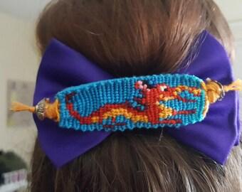 Mushu Dragon Mulan Disney Princess Hand Made Woven Pin