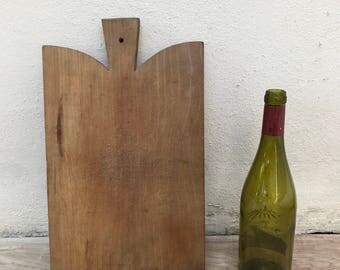 ANTIQUE VINTAGE FRENCH bread or chopping cutting board wood 1311178
