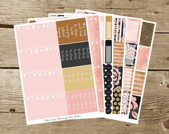 Rose Gold Weekly Kit (for use in Erin Condren Life Planner)