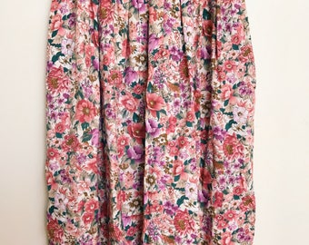 Retro High Waisted Floral Wide Leg Pants
