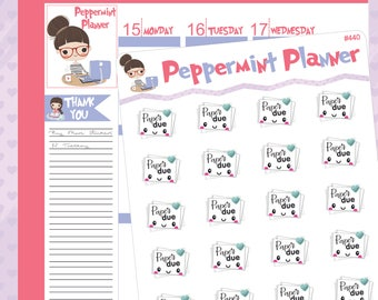 Paper Due Planner Stickers -- #440