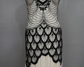 "20""s Flapper Art Deco Gatsby Jazz Age dress"