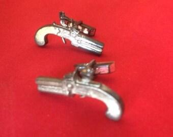 Antique Pistols Cuff Links