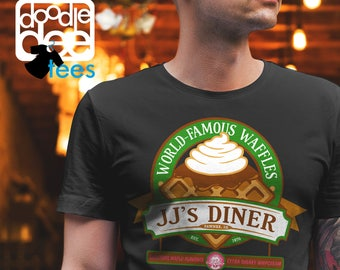 JJ's Diner: A Parks and Recreation Tshirt; Unisex, Womans, Ladies Fit, Ringspun, Parks and Rec Gift, Gift for Dad, Gift for Mom, Christmas