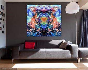Acquiesce B - Original psychedelic art print/canvas/poster
