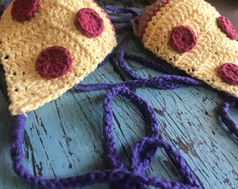 Pizza Tits Pepperoni Crochet Bikini Top handmade