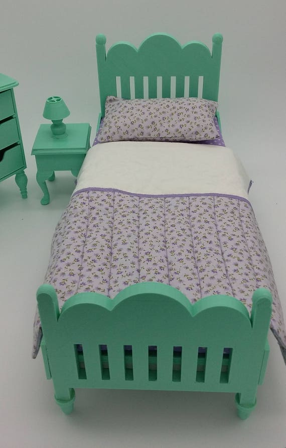 Bed and bedside table for Ball jointed Zisa Doll