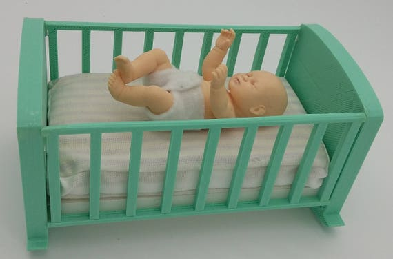 BJD Zisa baby brother in his crib