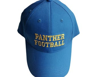 Panther Football Hat Like The Baseball Cap Worn By Eric Taylor In Friday Night Lights TV Show Coach Costume Dillon Panthers Gift Adult Blue