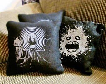 Handmade Pillow 10x10 Strange Art Print