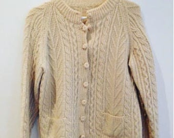Vintage Knitted Cardigan Size AU12/M