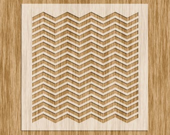 "Chevron Pattern (Zig Zag Tight Line) Stencil MINI SERIES - Sku P0114M (5.5"" x 5.5"")"