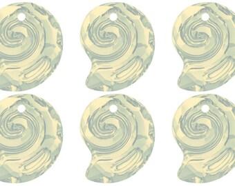 Swarovski 6731 Crystal Sea Snail 14mm White Opal