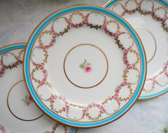 Minton rose gold garland luncheon plate