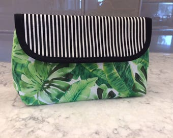 Makeup Bag with Brush Holder. Makeup Bag. Cosmetic Bag. Makeup Organizer. Travel Bag.