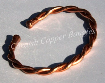 Magnetic Solid Twisted Copper Twisted Bracelet
