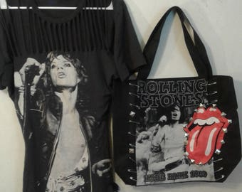 Rolling Stones purse rock n roll tote bag