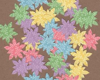 "35 - 1 1/2"" Pastel Flower Die Cuts for Paper Crafts Set 1"