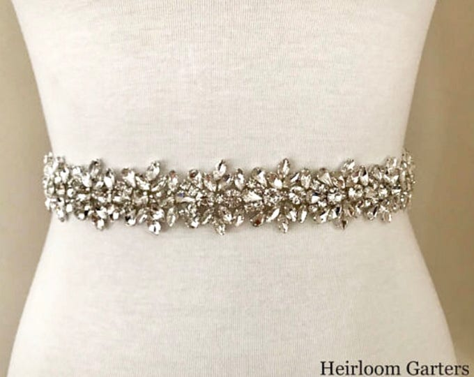 Wedding Belt, Bridal Belt, Rhinestone Bridal Sash, Satin or Organza, Wedding Dress Sash