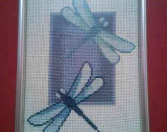 Completed CrossStitch - Dragonflies