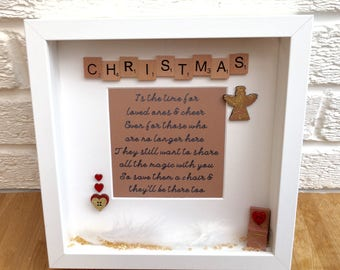 Christmas remembrance, Christmas memorial, lost loved ones in heaven, in loving memory, Christmas heaven chair,