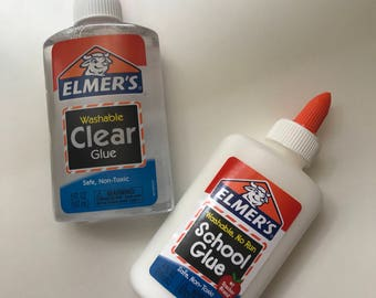 Elmers Clear Glue & White School Glue | Slime Supplies