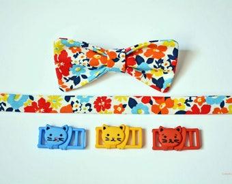 Cat collar bowtie, collar for cats, breakaway cat collar , non-breakaway cat collar, cute cat bowtie, orange, blue