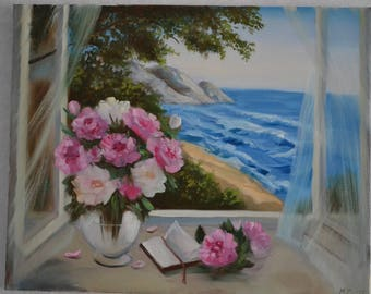 Oil painting Window
