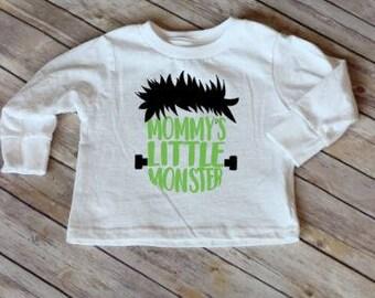Mommy's Little Monster/Kids Halloween Shirt/Boy's Halloween Shirt/Kids Fall Shirt/Halloween Shirt for Kids/Boys Monster Shirt/Toddler Shirt