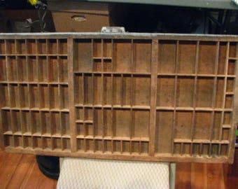Vintage Printer Drawer, Letterpress Tray.