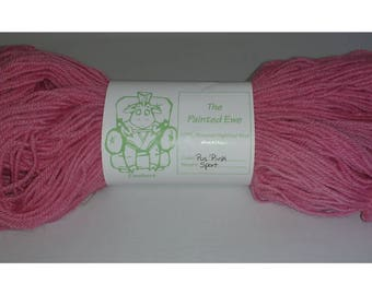 Pus Pink Sport Weight Hand Dyed Yarn Custom Color 100g Skein