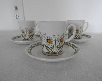 Vintage!  Figgjo Flint Norway, coffee cup and saucer /mid century modern