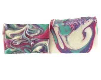 Unicorn Bomb Handmade Soap / Unicorn Soap / Black Cherry Soap / Handmade Soap / Soap Bar / Vegan Soap / Christmas Gift / Gift for Her