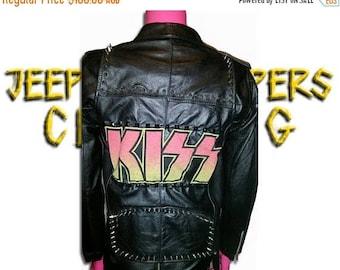 ON SALE Kiss Leather Jacket