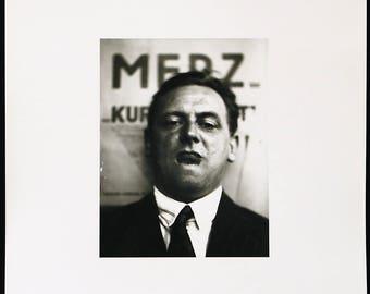 Russian avant-garde. Portrait Kurt Schwitters, 1924/1985. Photograph by El LISSITZKY