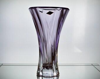 Czech Crystal Vase Etsy