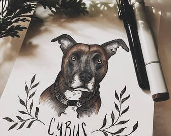 Personalized Ink Pet Portraits