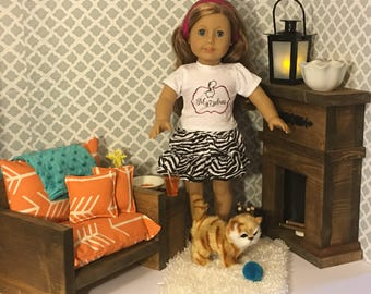 "Furniture set for 18"" dolls fits the American Girl dolls"