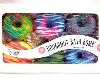 Doughnut Bath Bomb Gift Set | Donut Bath Bombs | Bath Bombs | Bath Fizz | Vegan | Handmade | Gift Sets