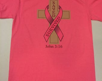 Saved and Survived Breast Cancer Tshirt