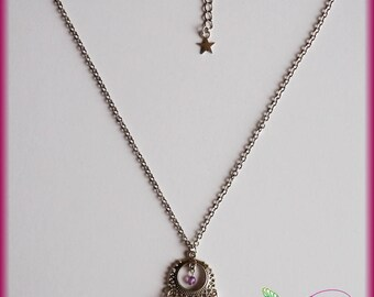 Necklace luxury Swavorvski rose and Butterfly