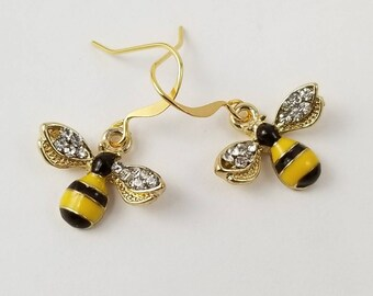 Bee Earrings, Bumble Bee Earrings, Honey Bee Earrings, Bee Jewelry