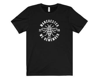 Manchester Bee 002 We Are Manchester Manchester Arena Streetwear Manchester Pride Tshirt 90S Hip Hop Clothing