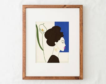 Portrait Art Print - Blue