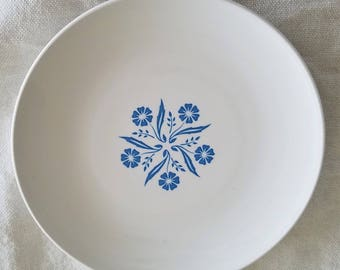 Cornflower Blue & White Bread and Butter Plate