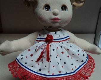 My Child Doll Outfit / Dress - 4th of July Red, White & Blue Summer Sleeveless